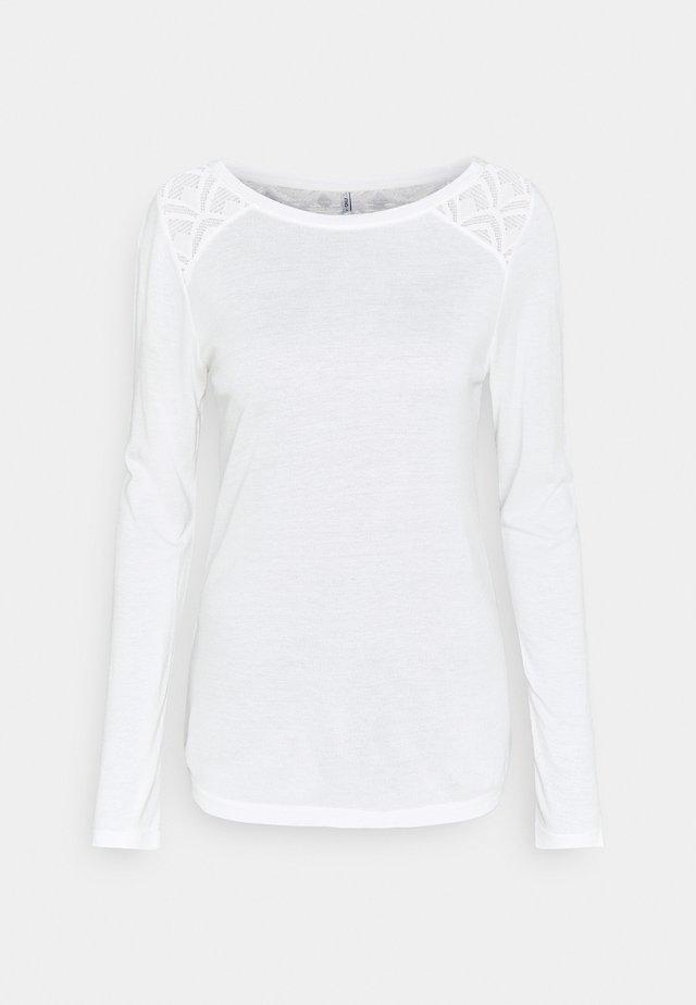 ONLNICOLE LIFE NEW MIX  - Camiseta de manga larga - cloud dancer