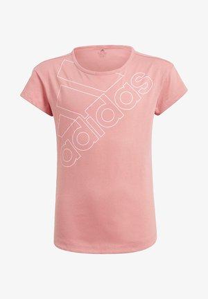 ADIDAS ESSENTIALS LOGO T-SHIRT - Camiseta estampada - pink