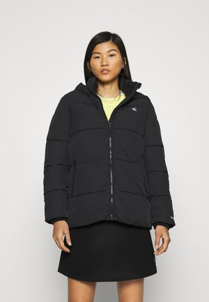 PEACHED HOODED PUFFER - Winter jacket - black