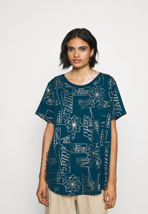 ICON CLASH PLUS - T-shirt con stampa - valerian blue