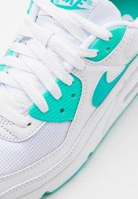 Nike Sportswear - AIR MAX 90 - Sneakers basse - white/hyper jade/black - 5