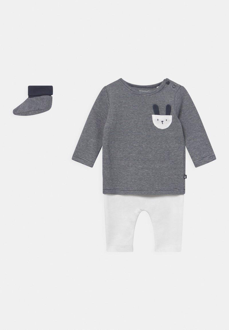 Staccato - SET UNISEX - Leggings - Trousers - dark blue/off-white