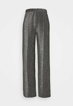 PCRINA KICK FLARED PANT - Trousers - silver colour