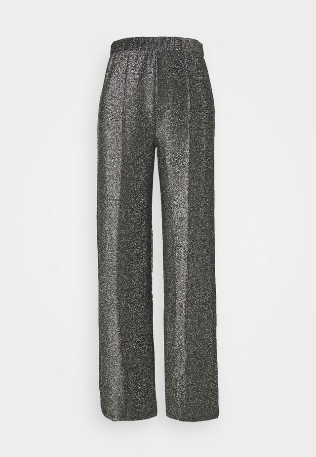 PCRINA KICK FLARED PANT - Tygbyxor - silver colour