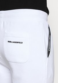 KARL LAGERFELD - PANTS - Tracksuit bottoms - white - 3