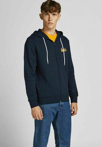 LOOPBACK DURCHGEHENDER REISSVERSCHLUSS - Zip-up sweatshirt - navy blazer