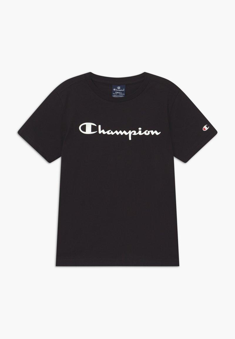 Champion - LEGACY AMERICAN CLASSICS CREWNECK - T-shirt con stampa - black