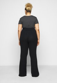 Dorothy Perkins Curve - WIDE LEG TROUSER - Trousers - black - 2