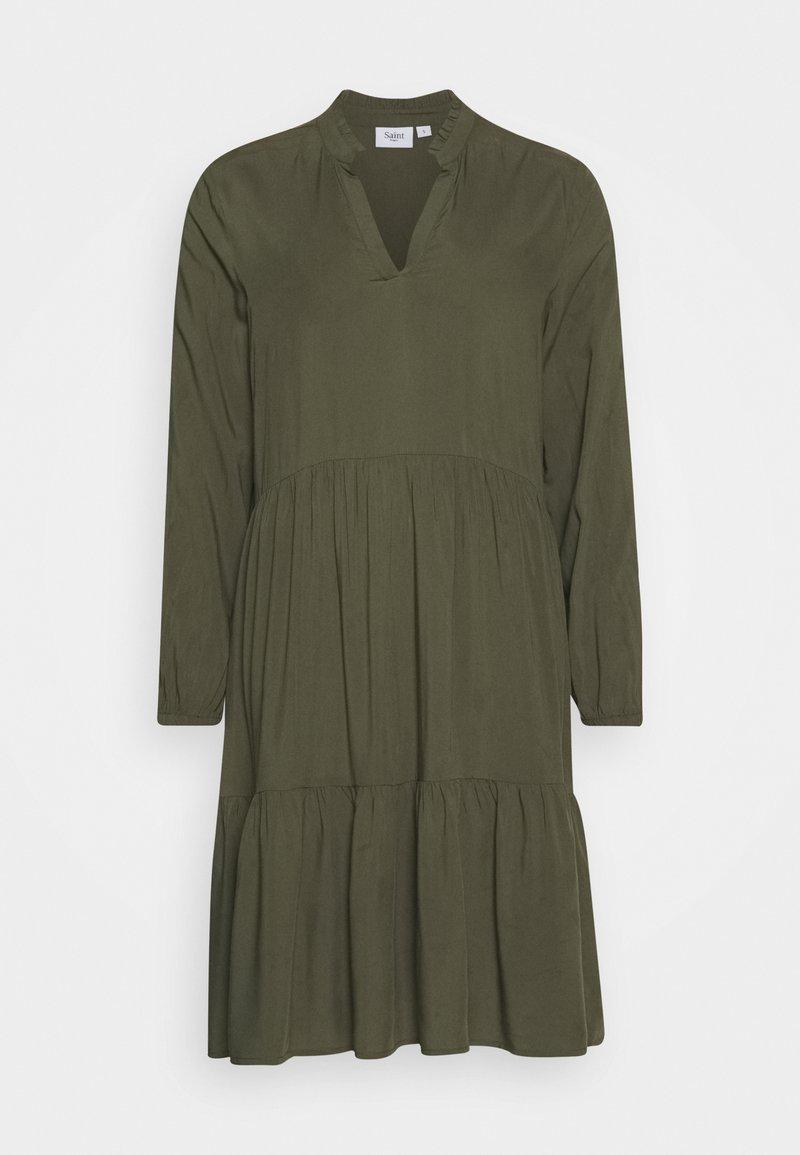 Saint Tropez EDA SOLID DRESS - Maxikleid - army green/khaki kX8yfC