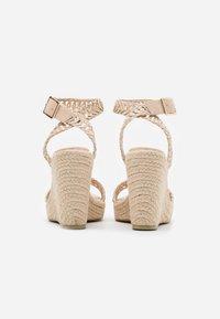 NA-KD - High heeled sandals - natural - 3