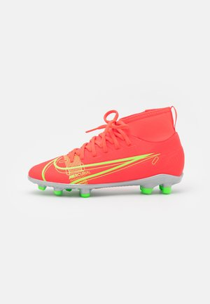 MERCURIAL 8 CLUB MG UNISEX - Moulded stud football boots - bright crimson/metallic silver