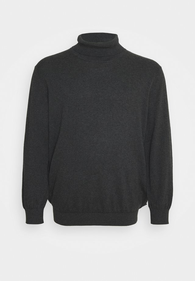 JJEEMIL ROLL NECK - Felpa - dark grey melange