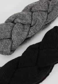 Even&Odd - 2 PACK - Ørevarmere - grey/black - 4