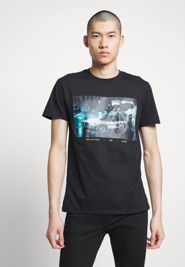 BACK TO THE FUTURE DELOREAN TEE - Triko s potiskem - black