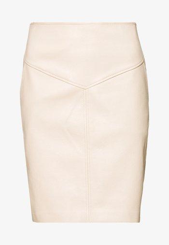 PEPA - Pencil skirt - natural