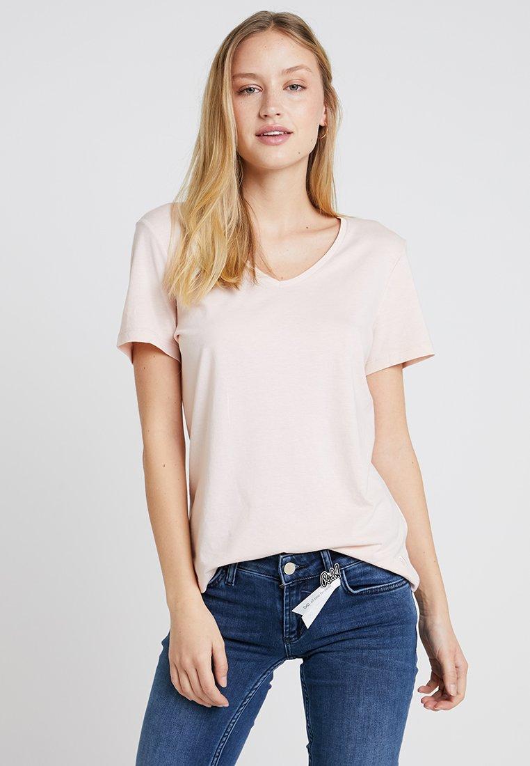 Cream - NAIA - Basic T-shirt - sunshine rose