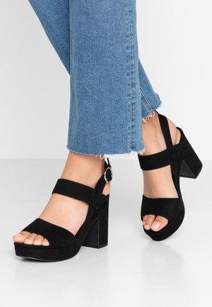 SELVEDERE - Sandály na vysokém podpatku - black
