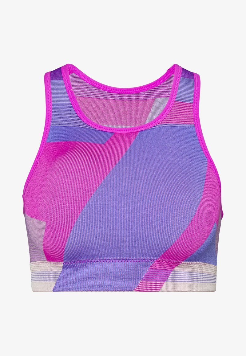 Nike Performance - SEAMLESS BRA - Sports-BH - fire pink/sapphire/desert dust