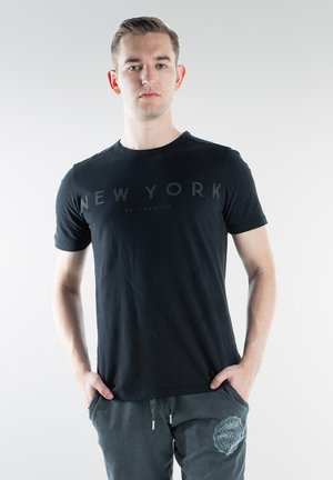 NY - T-shirt print - black