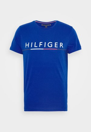 GLOBAL STRIPE TEE - Print T-shirt - blue