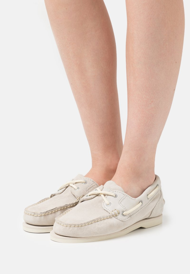 Timberland - CLASSIC - Boat shoes - white
