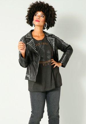 Leather jacket - dunkelgrau