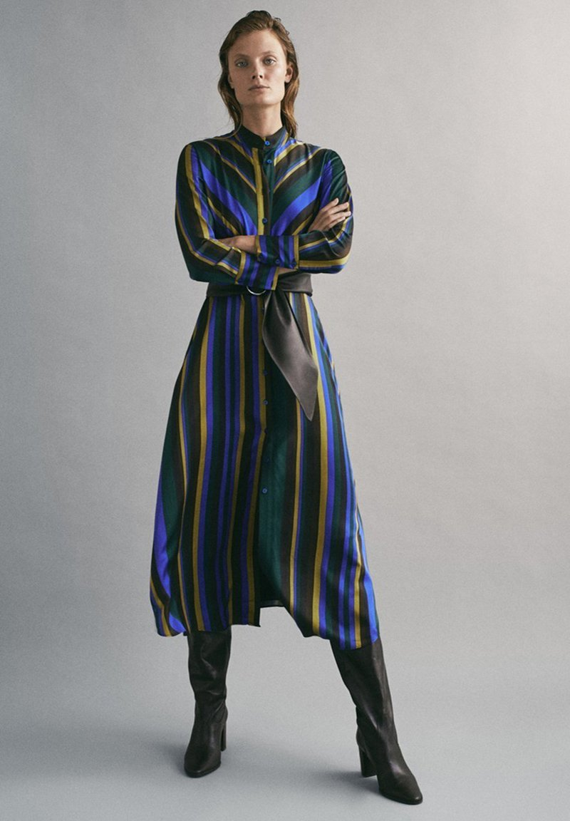Massimo Dutti - MIT STREIFENPRINT - Day dress - blue