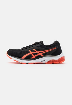 GEL-PULSE 12 - Neutral running shoes - black/flash coral