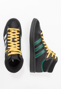 adidas Originals - AMERICANA - Korkeavartiset tennarit - core black/collegiate green/active gold - 1