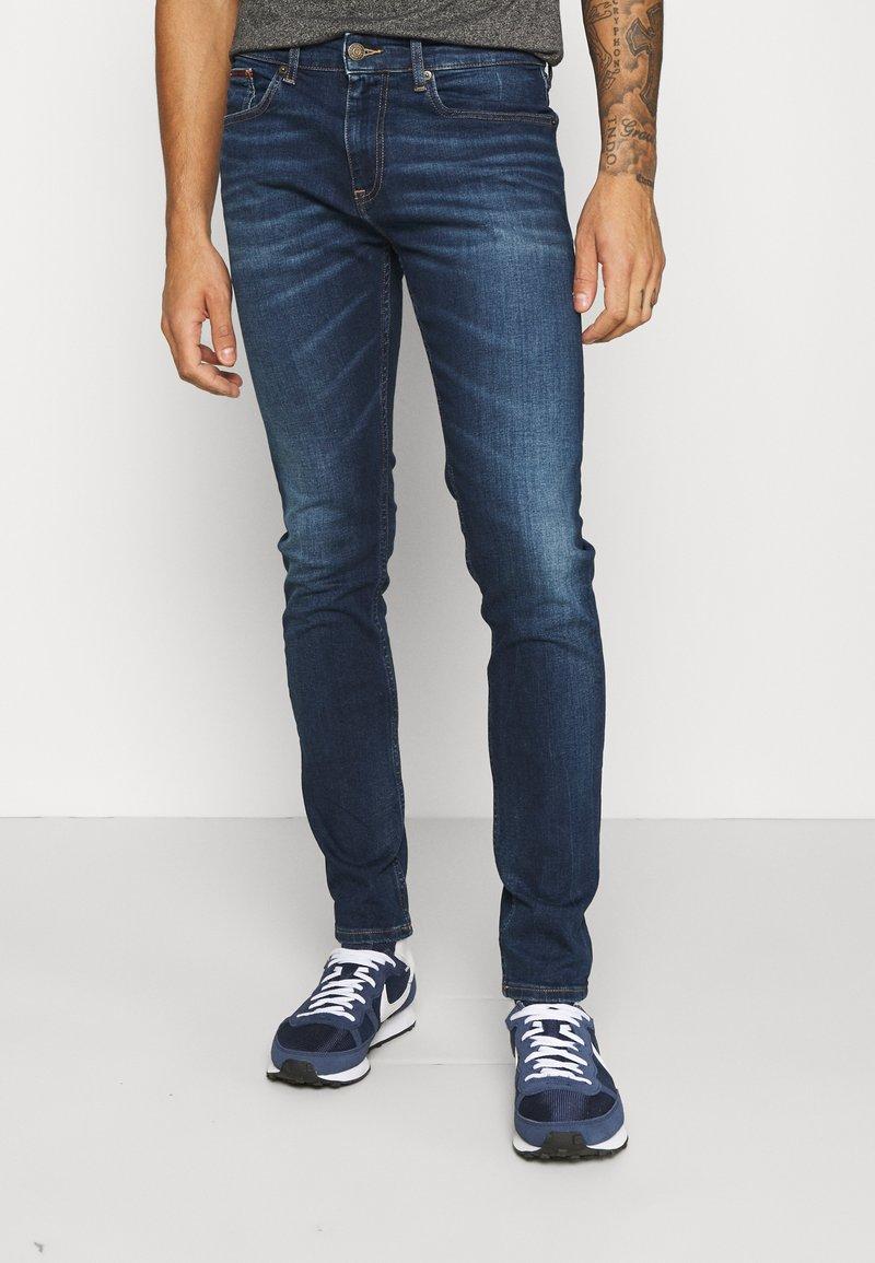Tommy Jeans - AUSTIN SLIM - Jean slim - aspen dark blue stretch
