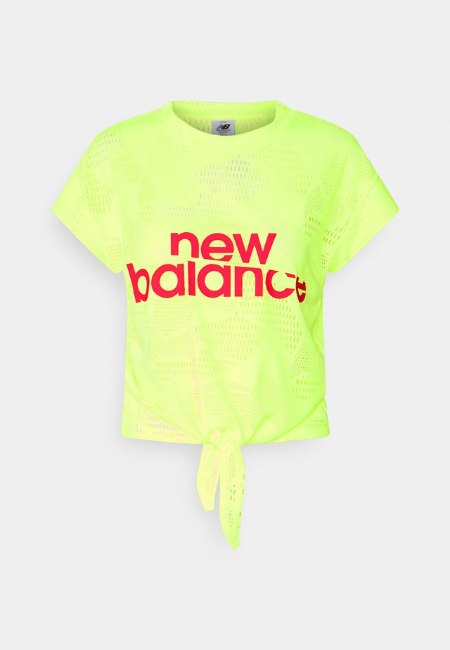 ACHIEVER COLLIDE TEE - Funktionströja - bleached lime glo