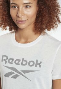 Reebok - WORKOUT READY SPEEDWICK - Print T-shirt - white - 3