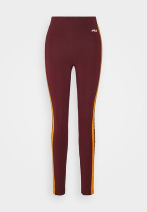 TASYA - Leggingsit - tawny port/orange popsicle