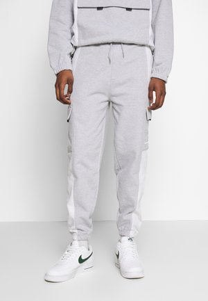 LOOPBACK PANEL POCKET UTILITY JOGGER - Tracksuit bottoms - grey marl