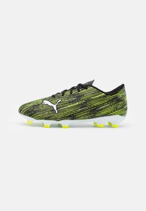 ULTRA 4.2 FG/AG JR UNISEX - Chaussures de foot à crampons - black/white/yellow alert
