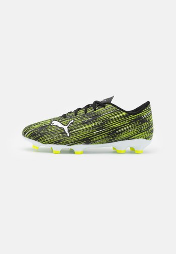 ULTRA 4.2 FG/AG JR UNISEX - Moulded stud football boots - black/white/yellow alert