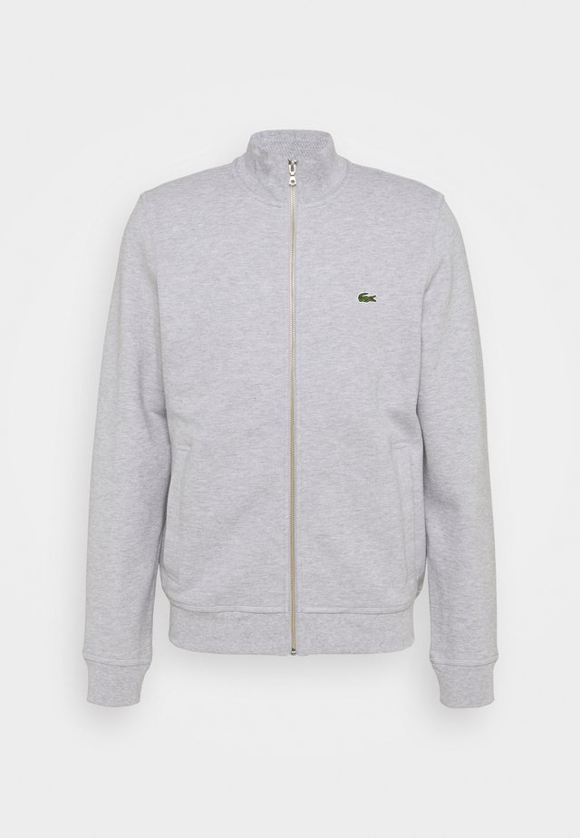 veste en sweat zippée - gris chine