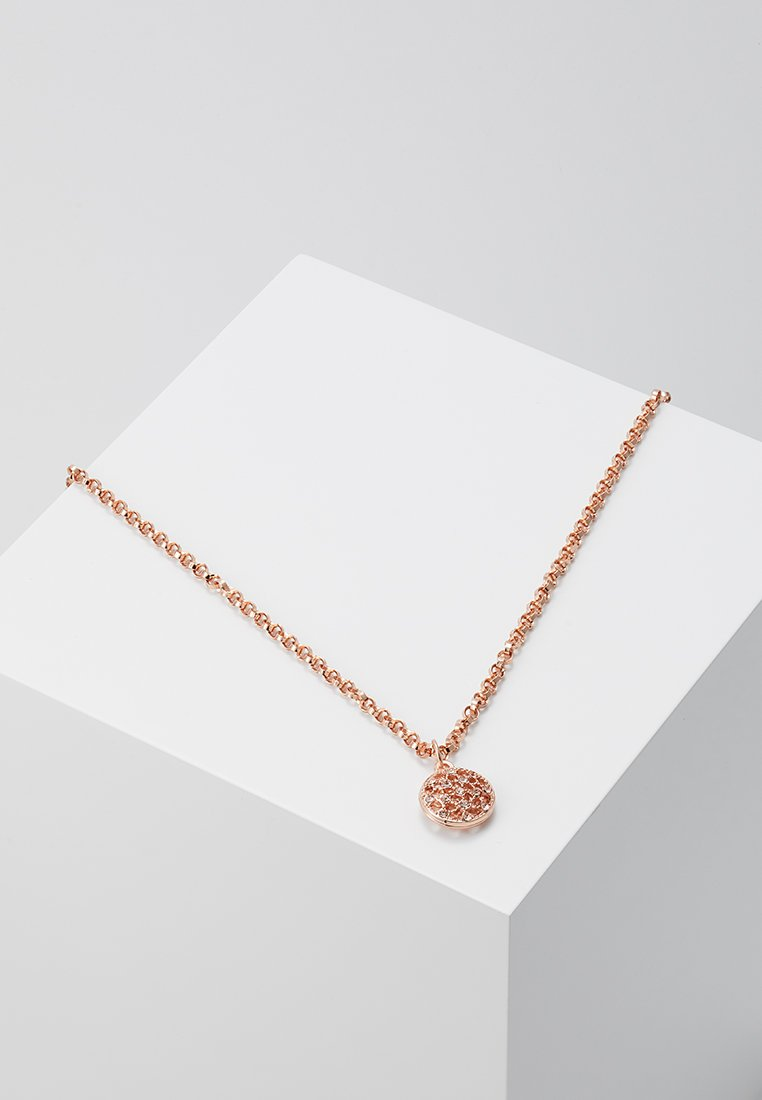 SNÖ of Sweden - MONROE SMALL ROUND PENDANT - Necklace - roségold-coloured