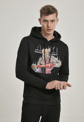 URBAN CLASSICS HERREN AMK HEMAN HOODY - Sweatshirt - black