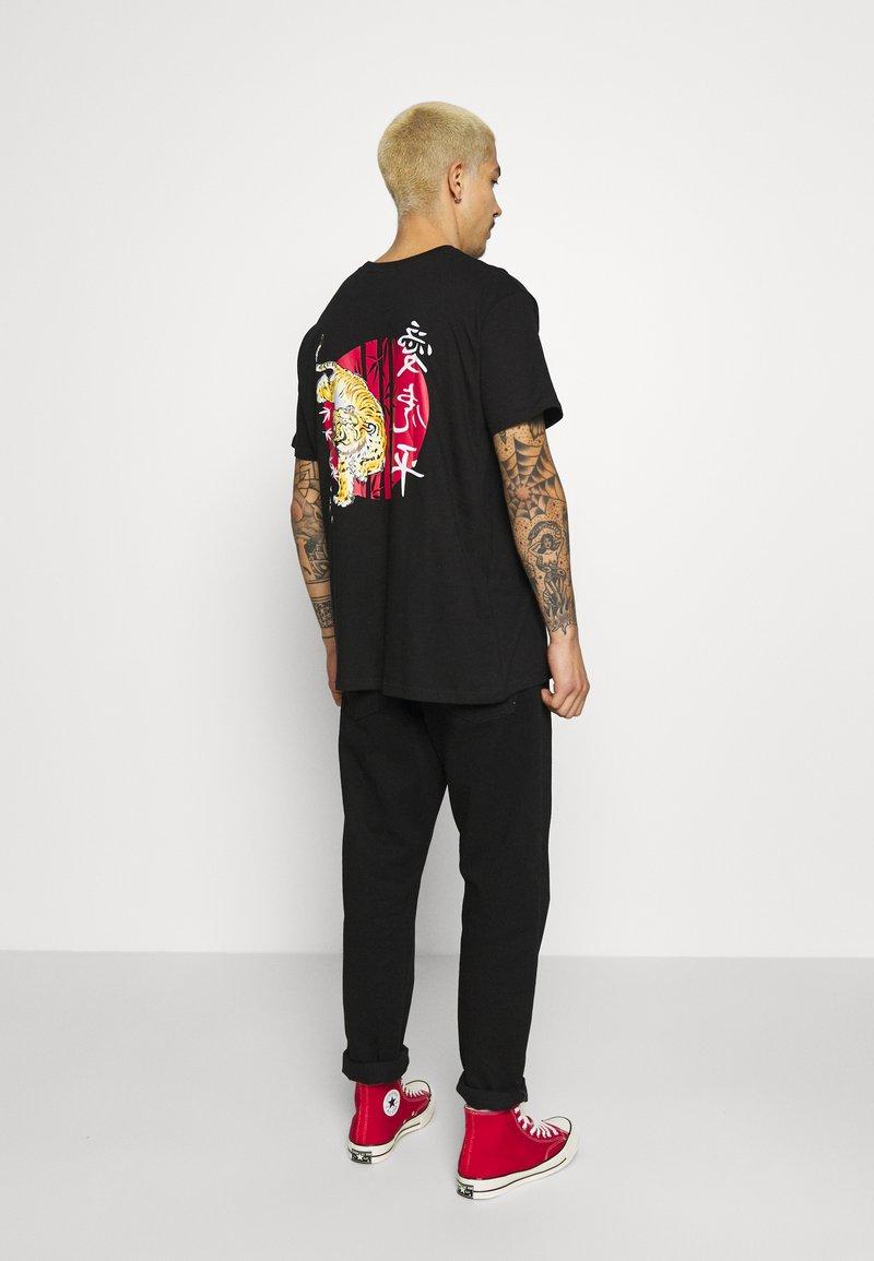 Brave Soul - TOKYO - T-shirt con stampa - black