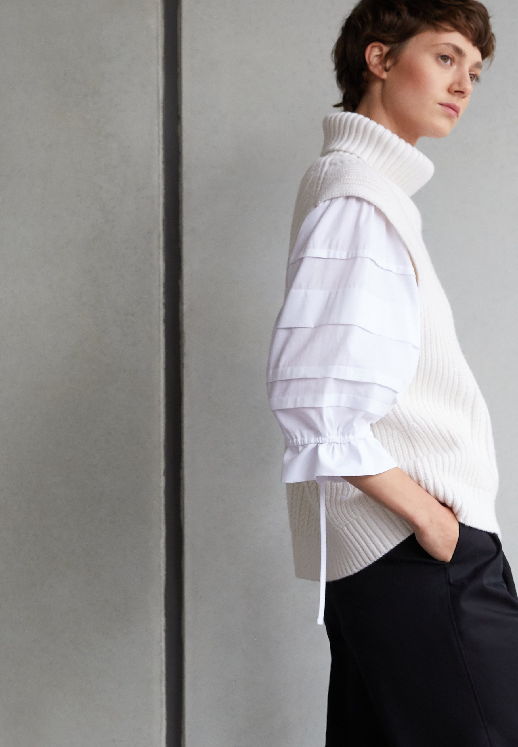 Women LAYER DETAIL OVERSIZED TOP - Blouse