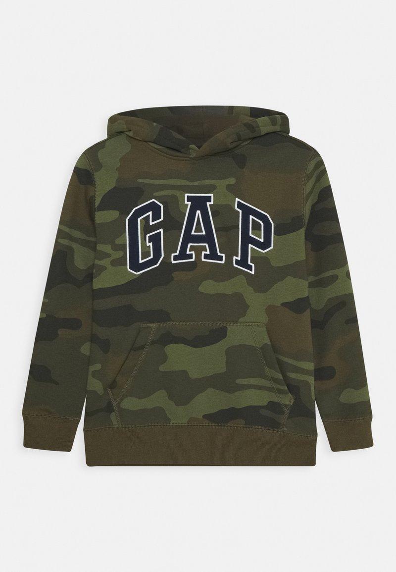 GAP - BOY CAMO ARCH - Felpa con cappuccio - khaki