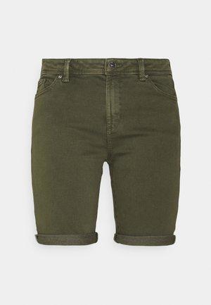 Denim shorts - khaki green