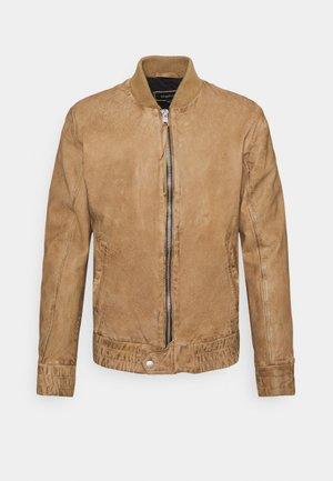 FUDO - Leather jacket - sand