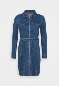 ONLY - ONLPHILLY LIFE ZIPPER DRESS - Denim dress - medium blue denim - 4
