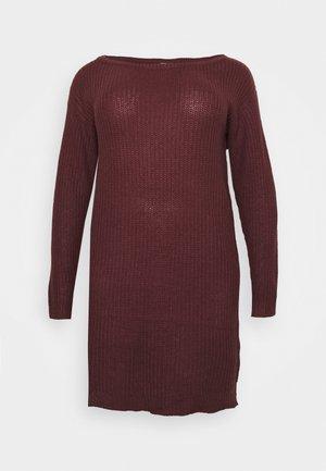 AYVAN OFF SHOULDER DRESS - Jumper dress - burgundy
