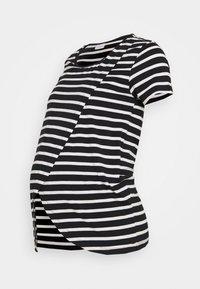 MAMALICIOUS - MLOLINA IRIS - T-shirts med print - black/snow white - 3