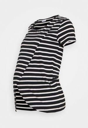 MLOLINA IRIS - Print T-shirt - black/snow white