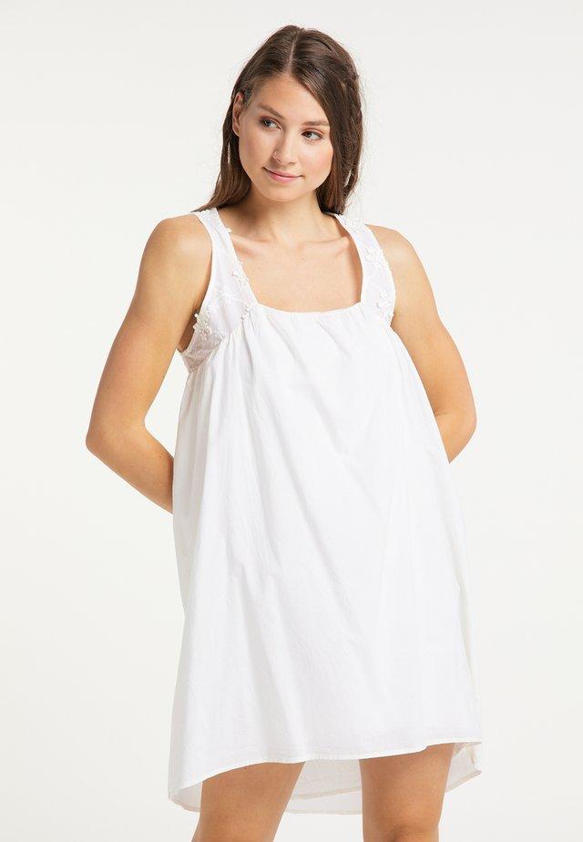 Korte jurk - wollweiss