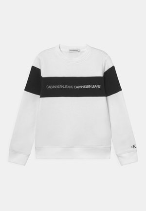 COLOUR BLOCK LOGO  - Sweatshirt - white